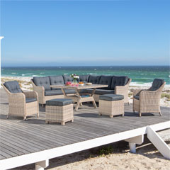 "Garden Impressions Dining-/Lounge-Garnitur ""Milwaukee XL"""