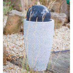 """Heissner Gartenbrunnen """"Mocca LED"""""""