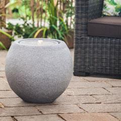 """Heissner Gartenbrunnen """"Ball Grey"""""""