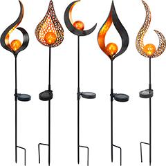 """CASAYA LED-Solarleuchte """"Flame Svante"""""""